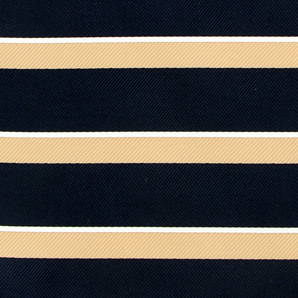 "Pocket Square Men's Hanky Navy Blue Gold Striped 10"" Dress Suit Handkerchief New"