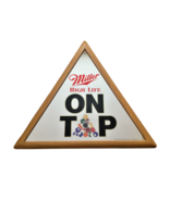 Vintage Pool Table / Billiards Miller High Life Beer Bar Sign Mirror - $109.99