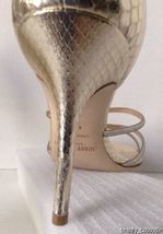 NEW Authentic JIMMY CHOO Straits D'Orsay Gold Sandals (Size 40.5) - MSRP $795.00 image 11