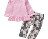 Mas baby girls clothes set floral print long sleeve ruffle tops elastic pants kids thumb155 crop