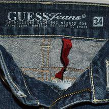 Guess Jeans Women's Daredevil Bootcut Dark Blue Stretch Denim Size 34 image 3