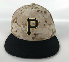 Pittsburgh Pirates Baseball Hat New Era 59Fifty On-Field Camo Print - Size 7 - $24.74
