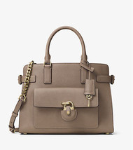 Michael Kors Emma Saffiano Leather Satchel Dark... - $163.34
