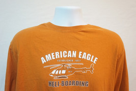 American Eagle Heli-Snowboarding Midweight Cotton T-Shirt, Orange, Mediu... - $203,53 MXN