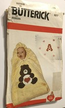 Butterick 6217 Infant Baby Bunting Blanket Care Bears Uncut Sewing Patte... - $12.71