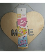 """Hand Made Modern Wood Unfinished Craft Be Mine Wood Sign Heart 10"""" X 11 ... - $9.89"""