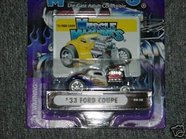 Muscle Machines '33 Ford Coupe 04-18 Mint In Package Free Usa Shipping - $11.29