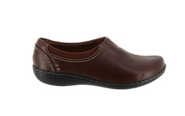 Clarks Leather SlipOn Shoes Ashland Joy Brown 9M NEW A344021 - $66.31