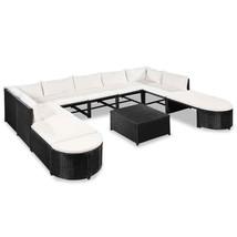 vidaXL Garden Sofa Set 32 Pieces Poly Rattan Wicker Outdoor Furniture Lo... - $421.99
