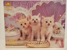 "Golden Blue-Eyed Beauties 500 Piece 1994 Jigsaw Puzzle 18"" x 14"" Age 10 ... - $18.69"