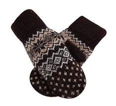 BROWN,Woollen Gloves Unisex Mitten Lovely Warm Winter Gloves Student Gloves