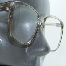 Reading Glasses Gray Smoke Clear Bold Statement Square Frame +3.00 Lens Strength - $16.00