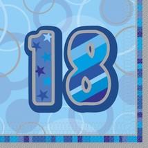 Unique Party Blue Glitz Lunch Napkins - 18 #jci - $9.19
