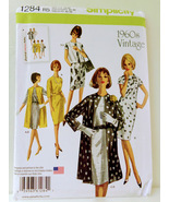 Simplicity 1284 Womens 60's Vintage Dress Sewing Pattern Size14-22 Dress... - $14.00