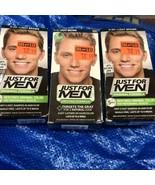 3 Pack Just For Men Hair Color H25 Light Brown Shampoo-in Original Formula - $25.11