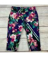 FILA Womens Tropical Floral Running Capri Leggings Medium NWOT - $33.00