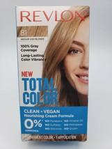 Revlon Total hair Color 81 Medium Ash Blonde permanent gray coverage vegan dye - $10.78