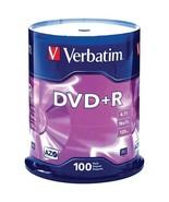 Verbatim 95098 4.7GB DVD+Rs (100-ct Spindle) - $49.76