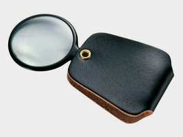 General Tools Round MAGNIFIER 532 Plastic Frame Faux Leather Toolmakers Jewelers - $11.99