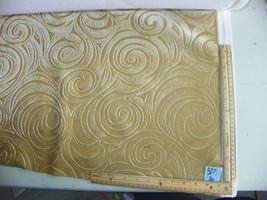 Gold Swirl Print Velvet Upholstery Fabric 1 Yard  (R517) - $29.95