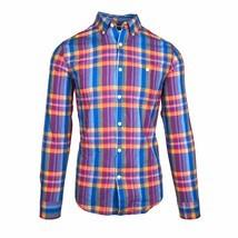 Tommy Hilfiger Men's New York FIT Blue Lightweight Button Down Shirt C8878 - $39.99