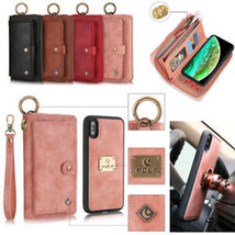 For iPhone 12Pro Max XR 6 7 8+ Wallet Leather Flip Magnetic BACK Case cover - $100.44