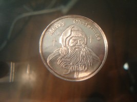 Vintage Collectible Santa Clause Round Fine Silver not scrap - $45.00