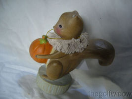 Bethany Lowe Squirrel Holding a Pumpkin Halloween Thanksgiving  image 3