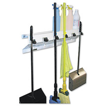 """Ex-Cell The Clincher Mop Broom Holder 34""""w x 5 1/2""""d x 7 1/2""""h Home Whit... - $62.73"""