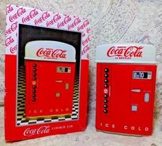 1995 Coca Cola Ice Cold Coke Pop Machine Cookie Jar Canister MIB Enesco ... - $69.99