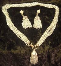 Vintage Sarah Coventry Silvertone Cascade Necklace Earring Demi Set - $19.95