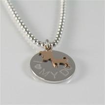 Necklace to Balls Silver 925 Jack&co with Dog Jack in Rose Gold 9KT JCN0549 image 2