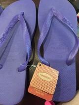 New Havaianas Flip Flops  New Women 's Sandals Shoes Purple  7/8 Thongs - $22.15
