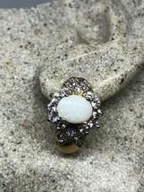 Vintage Real White Fire Opal 925 Sterling Silver Stud Earrings - $157.15