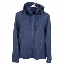Kuhl Full Zip Athletic Jacket Women's Medium Slate Gray Navy Blue Hooded... - $39.50