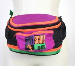 Vintage 1990s Fanny Pack Waist Bag Satchel Hip Neon Multi Color Triathlo... - $84.14