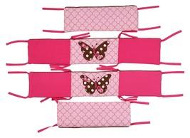Butterflies pink/chocolate Bumper Pad - $71.69