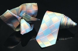 Pierre Cardin Mens Rainbow  Tie and Pocket square New - $31.28