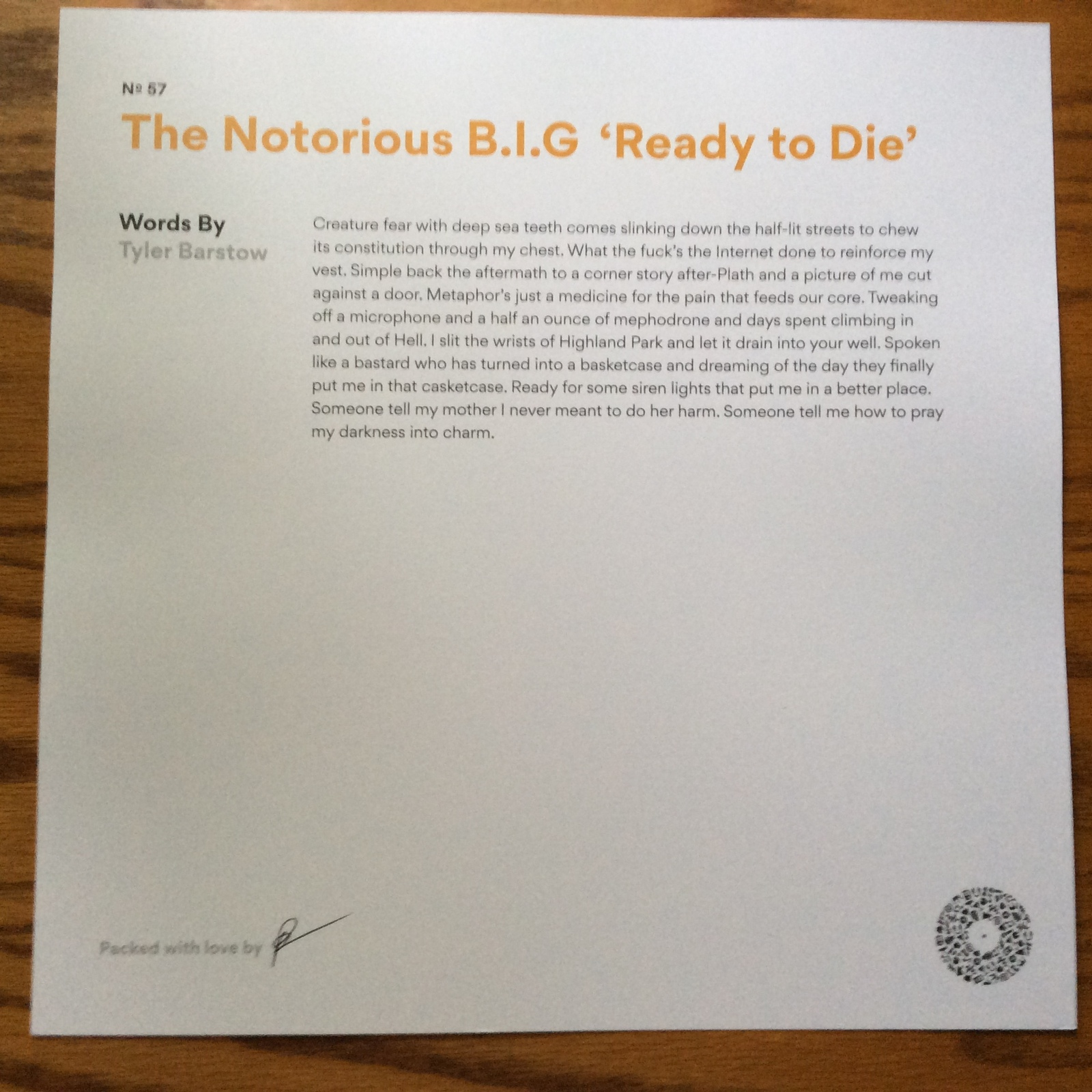 Ready To Die (Club Edition) [Vinyl] The Notorious B.I.G.