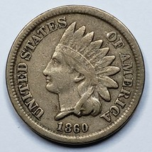 1860 Indian Head Cent Penny Coin Lot 519-100
