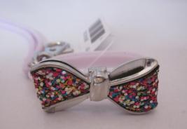 Bath & Body Works PocketBac Hand Sanitizer Holder Clip Silver Confetti Bow Band - $19.99