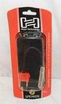 Hosa Technology BNP116RD Speaker Adaptor Quarter Inch TS To Dual Red Banana image 1