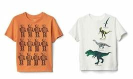 Gap Kids Boys T-shirt 4 4T Graphic Short Sleeves Crew Neck Cotton White ... - $14.95