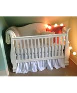 WHITE Cotton Ruffled Crib Skirt / Mini Crib Skirt  - $25.99+