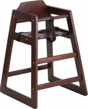 New Assembled Commercial Walnut High Chair With Support Straps Free Shipping - $99.95