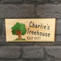 Personalised Treehouse Sign, Keep Out Tree House Boys Kids Childrens Den... - $12.28