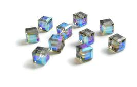 4pcs - 4mm Swarovski Crystal Cube Beads #5601 - You Choose The Color image 12