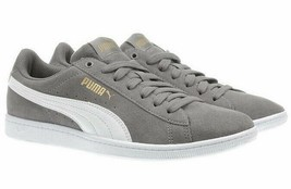 NEW PUMA Ladies Womens Suede Vikky Gray Tennis Gym Shoes Sneakers - $27.16