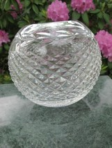 Signed Waterford cut glass rose bowl - $45.82