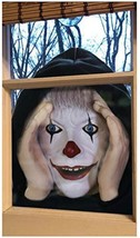 Halloween prop creepy peeping Tom clown window prop (a) - $168.29